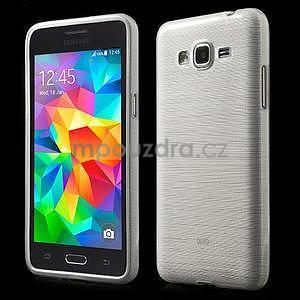Broušený gelový obal pro Samsung Galaxy Grand Prime -  bílý - 1