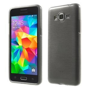 Broušený gelový obal pro Samsung Galaxy Grand Prime - šedý - 1