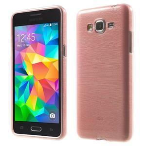 Broušený gelový obal pro Samsung Galaxy Grand Prime - růžový - 1