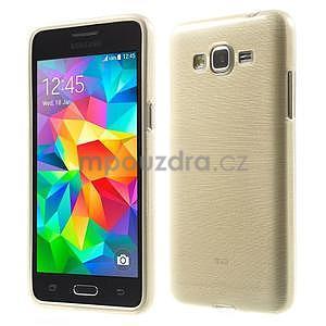 Broušený gelový obal pro Samsung Galaxy Grand Prime - zlatý - 1