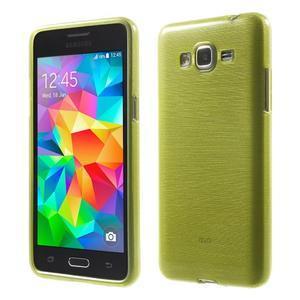 Broušený gelový obal pro Samsung Galaxy Grand Prime - zelený - 1