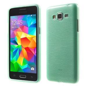 Broušený gelový obal pro Samsung Galaxy Grand Prime - cyan - 1