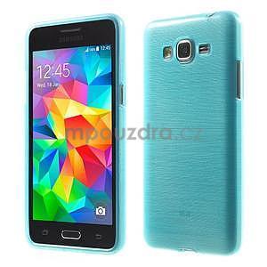 Broušený gelový obal pro Samsung Galaxy Grand Prime - tyrkysový - 1