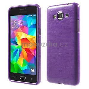Broušený gelový obal pro Samsung Galaxy Grand Prime - fialový - 1