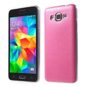 Ultratenký gelový kryt s imitací kůže na Samsung Grand Prime - rose - 1