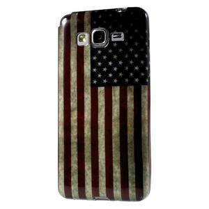 Gelový obal Samsung Galaxy Grand Prime G530H - US vlajka - 1