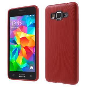 Tenký pogumovaný obal na Samsung Galaxy Grand Prime - červený - 1