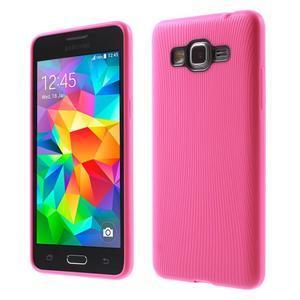 Tenký pogumovaný obal na Samsung Galaxy Grand Prime - rose - 1