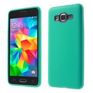 Tenký pogumovaný obal na Samsung Galaxy Grand Prime - cyan - 1