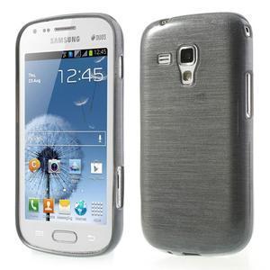 Broušený gelový kryt na Samsung Galaxy S Duos - šedý - 1