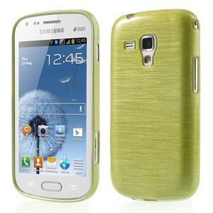 Broušený gelový kryt na Samsung Galaxy S Duos - zeleno žlutý - 1