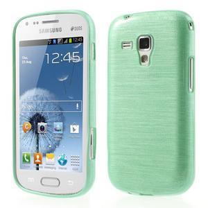 Broušený gelový kryt na Samsung Galaxy S Duos - zelený - 1