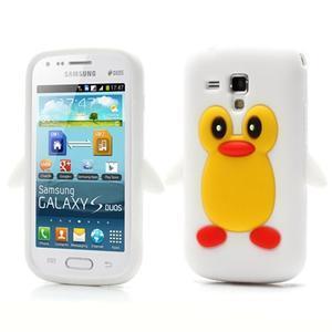 Silikonový obal tučňák na Samsung Galaxy S Duos - bílý - 1