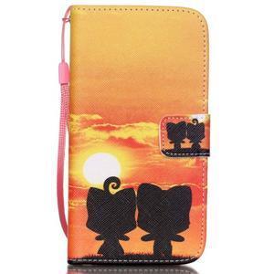 Knížkové PU kožené pouzdro na Samsung Galaxy S5 - západ slunce - 1