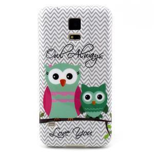Luxury gelový obal na mobil Samsung Galaxy S5 - sovičky - 1