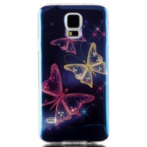 Blu-ray gelový obal s odlesky na Samsung Galaxy S5 - kouzelní motýlci - 1