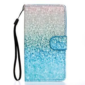 Knížkové PU kožené pouzdro na Samsung Galaxy S5 - glitter - 1
