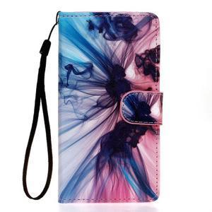 Knížkové PU kožené pouzdro na Samsung Galaxy S5 - iluze - 1