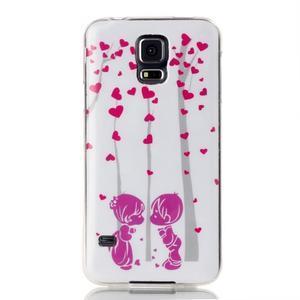 Rich gelový obal na Samsung Galaxy S5 - láska - 1