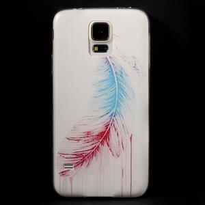 Ultratenký slim gelový obal na Samsung Galaxy S5 - peříčko - 1