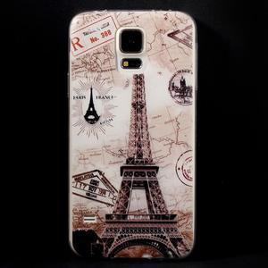 Ultratenký slim gelový obal na Samsung Galaxy S5 - Eiffelova věž - 1
