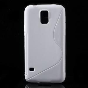 S-line gelový obal na mobil Samsung Galaxy S5 - bílý - 1