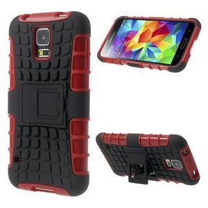 Outdoor odolný kryt na mobil Samsung Galaxy S5 - červený - 1