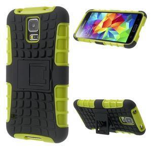 Outdoor odolný kryt na mobil Samsung Galaxy S5 - zelený - 1