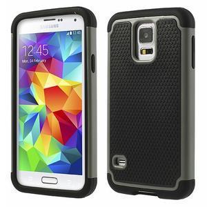 Odolný obal 2v1 na mobil Samsung Galaxy S5 - šedý - 1