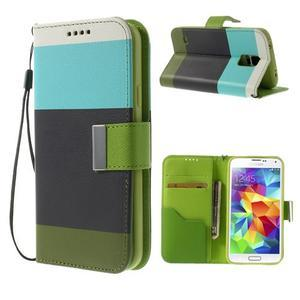 Colory PU kožené pouzdro na mobil Samsung Galaxy S5 - variant III - 1