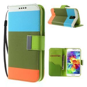 Colory PU kožené pouzdro na mobil Samsung Galaxy S5 - variant IV - 1