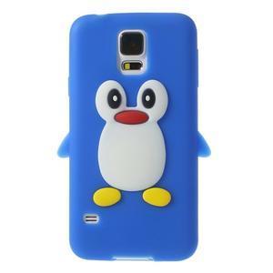 Penguin silikonový obal na Samsung Galaxy S5 - modrý - 1