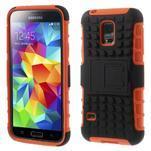 Outdoor odolný obal na mobil Samsung Galaxy S5 mini - oranžový - 1/7
