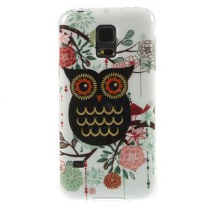 Owls gelový obal na Samsung Galaxy S5 mini - paní sova - 1