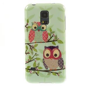 Owls gelový obal na Samsung Galaxy S5 mini - sovy na větvi - 1
