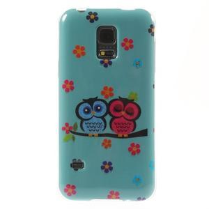 Owls gelový obal na Samsung Galaxy S5 mini - soví pár - 1