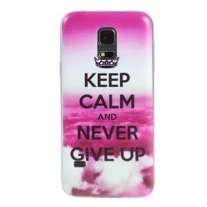 Ultratenký obal na mobil Samsung Galaxy S5 mini - Keep Calm - 1