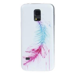Ultratenký obal na mobil Samsung Galaxy S5 mini - peříčko - 1