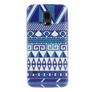 Ultratenký obal na mobil Samsung Galaxy S5 mini - geo tvary - 1