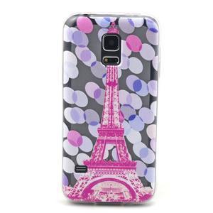 Transparentní gelový obal na mobil Samsung Galaxy S5 mini - Eiffelova věž - 1