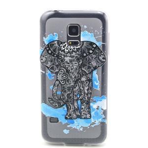 Transparentní gelový obal na mobil Samsung Galaxy S5 mini - slon - 1