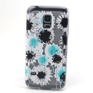 Transparentní gelový obal na mobil Samsung Galaxy S5 mini - sedmikrásky - 1