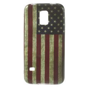 Softy gelový obal na Samsung Galaxy S5 mini - US vlajka - 1