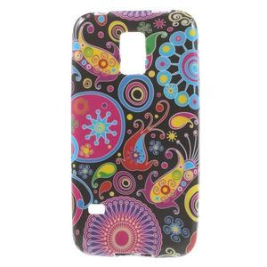 Softy gelový obal na Samsung Galaxy S5 mini - barevné kruhy - 1