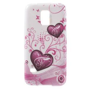 Softy gelový obal na Samsung Galaxy S5 mini - srdce - 1