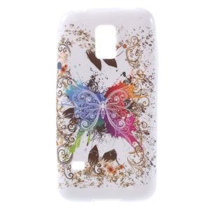 Softy gelový obal na Samsung Galaxy S5 mini - barevný motýl - 1