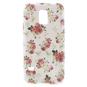 Softy gelový obal na Samsung Galaxy S5 mini - květinová koláž - 1