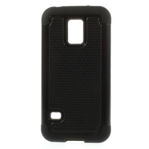 Odolný kryt 2v1 na mobil Samsung Galaxy S5 mini - černý - 1