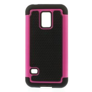 Odolný kryt 2v1 na mobil Samsung Galaxy S5 mini - rose - 1