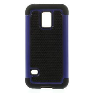 Odolný kryt 2v1 na mobil Samsung Galaxy S5 mini - tmavěmodrý - 1
